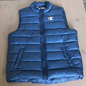 Champion Mens Lightweight Vest Jacket Navy Blue